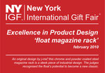2010 nyigf - excellence in product design – float magazine rack - j-me