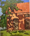 Nebengebäude Pfarrhaus Himmelpfort - 30x24cm Öl auf MDF/Leinen - €150,00