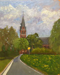 Christuskirche Isenstedt 21072019 24x30cn - Öl auf MDF €160,00