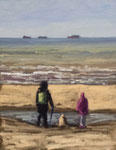 """Schaumal Oma"" Katwijk aan Zee - 30x24cm - Öl auf MDF - €150,00"