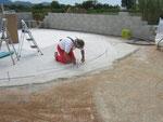 Auslegen der Bodenschienen