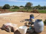 Fundament für Stahlwandbecken