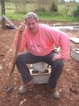 Ein erschöpfter Baumeister