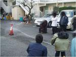 消防訓練消火器放射