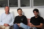 Pascal Siankowski et Pierre Colombo, près de James Bowman