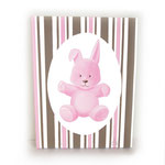Lapin ROSE (toile sur chassis) - 40€