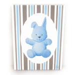 Lapin BLEU (toile sur chassis) - 40€