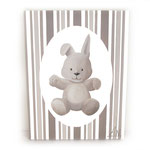Lapin TAUPE (toile sur chassis) - 40€