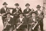 1898, Gründungsmitglieder der Blechmusikgesellschaft Untervaz