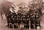 3. Mai 1951, Einweihung der ersten Uniform (grün), Geschenk der Musikgesellschaft Meggen / LU