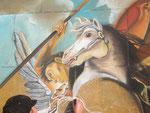 detail die macht der beredsamkeit, strassenmalerei köln 2007