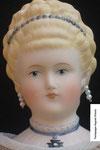 Biedermeierpuppe Auguste Victoria um 1880 Gr. 38 cm