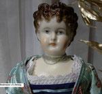 Biedermeierpuppe Fa. Hertwig um 1880 Gr. 38 cm
