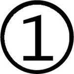 Zahlen im Kreis : Nummer 1 (eins)
