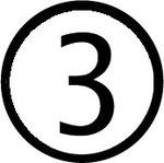 Zahlen im Kreis : Nummer 3 (drei)