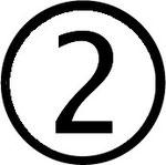 Zahlen im Kreis : Nummer 2 (zwei)