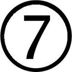 Zahlen im Kreis : Nummer 7 (sieben)