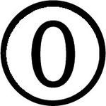 Zahlen im Kreis : Nummer 0 (null)