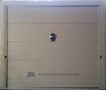 Porta basculante coibentata Ral 9002