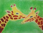Girafe, pastel de Axelle, 10 ans