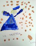 Le  magicien de Jules, 4 ans et demi (aquarelle sur papier)