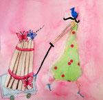 Eloïse 10 ans, aquarelle sur papier