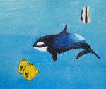 Acryllique sur toile, Coline, 10,5 ans