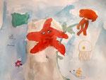 Aquarelle de Manon, 7 ans