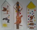marques pages aquarellés de Lucie, 7 ans et demi