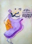 Eloïse, 10 ans, aquarelle sur papier