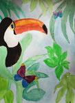 Toucan, aquarelle de Emilie, 12 ans