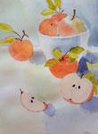 Pomme de Clara, 12,5 ans (aquarelle)