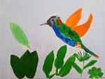 Colibri de Léanne, 9 ans  (acrylique sur toile)