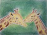 Girafes de Laure, 13 ans, pastel