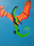 Dragon de Rose, 7 ans et demi (acrylique sur toile)