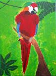 Perroquet de Laure, 13 ans  (acrylique sur toile)