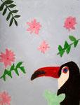 Toucan de Colomba, 8 ans  (acrylique sur toile)
