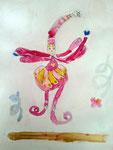 Le fée de Salma, 5 ans (aquarelle sur papier)