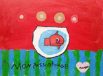 Acrylique sur toile de Aaron, 6 ans et demi