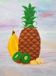Fruits exotiques, acrylique de Laure, 13 ans