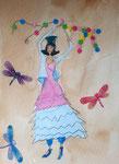Pauline, 9 ans, aquarelle sur papier