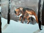 Acrylique sur toile de Lucie H. 11,5 ans