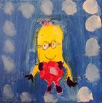 """""""Mignon"""" de Pauline, 5,5 ans (acrylique sur toile)"""
