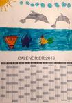 Calendrier 2019 de Pauline, 6 ans et demi