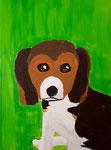 Chien de Ella, 10 ans (acrylique sur toile)