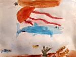 Aquarelle de Benjamin, 7 ans