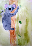 Koala de Rose, 7 ans et demi (aquarelle)