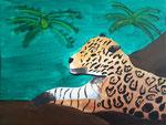 Léopard de Lucie, 9 ans  (acrylique sur toile)
