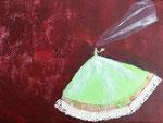 """""""La reine des paons se marie"""", Laure 10 ans (acrylique sur toile)"""