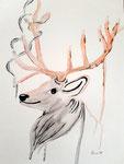 Dessin aux crayons et feutres aquarellables de Lucie H. 11,5 ans